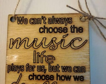 Quote wall plaque