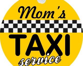 Mom's Taxi Service Key Chain