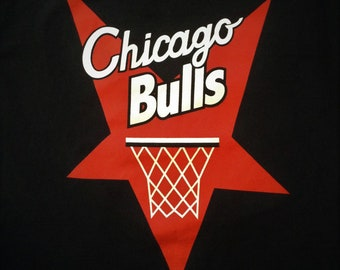 Rare Black Adidas Tri Leaf Chicago Bulls Shirt - Baphomet Illuminati  Star Graphic - Double sided