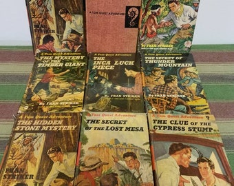 Collection of 9 Vintage Tom Quest Hardback Books