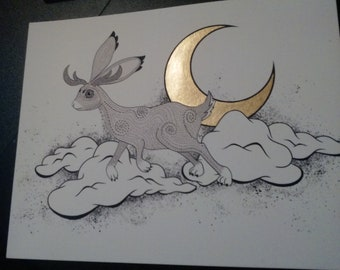 Moon Rabbit Art Print