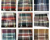 Plaid blanket scarf- green burgundy gray red blue mustard tartan plaid Flannel shawl- men 39 s-women 39 s blanket scarf-2019 winter fashion Turkey
