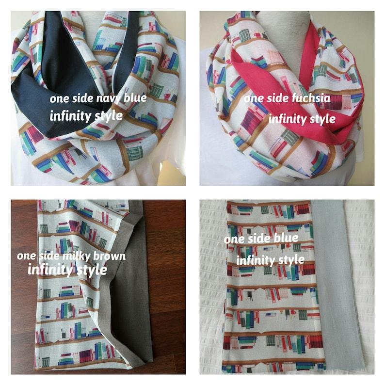 2538d804b0e Bibliothèque patron foulard infini long foulard professeur