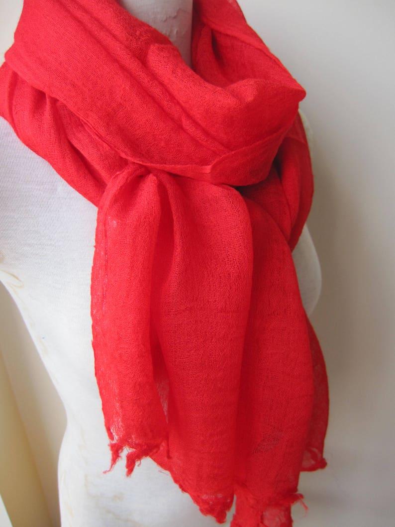 57bc6e5ddf44 Foulard rouge Uni solide Grenade rouge écharpe laine viscose