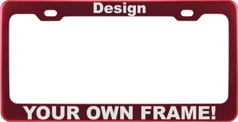 """/""""LAND ROVER/"""" LASER Style Black Stainless Steel License Plate Frame W// Bolt Caps"""
