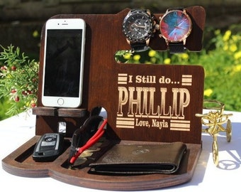 Gift For Dad From Daughter Wedding Fathers Day Docking Station Birthday Wood New Ideas