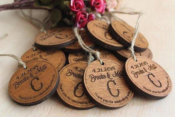 Personalized Wedding Favors Engraved Wedding Favors Rustic Etsy