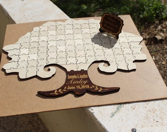 Puzzle Guestbook, Jigsaw Guestbook, Unique Guestbook, Jigsaw puzzle guestbook,Guestbook Wedding