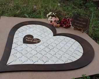 Wedding Guest Book Alternative Custom Guest Book Wedding Guestbook Alternative Guest Book Ideas Puzzle Guestbook Sign Puzzle GBP#12