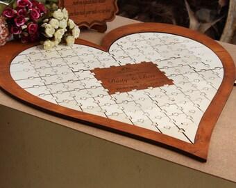 heart sign alternative guestbook Wedding Guestbook Puzzle wedding guest book alternative Puzzle Guestbook sign in book wedding