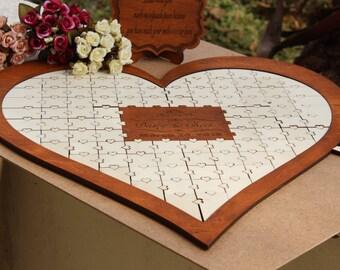 Custom monogram design for wedding guest book alternative Wedding guest book puzzle, Anniversary guestbook puzzle, Wedding guestbook puzzle