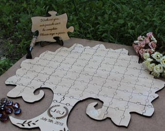 Personalized guest book ideas for wedding guestbook puzzle, For Couple Wedding puzzle guestbook alternative guest book puzzle
