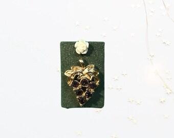 Purple Gem Grapes, Neodymium Magnet, Handmade Fridge Jewelry
