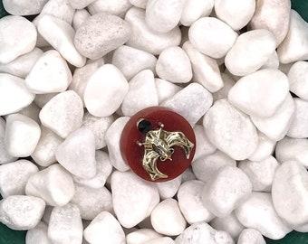 Silver Hanging Bat, Neodymium Magnet, Handmade Fridge Jewelry