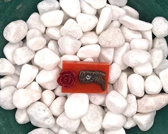 Red Flowered Cowboy Boot, Neodymium Magnet, Handmade Fridge Jewelry