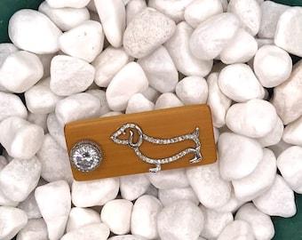 Sparkly Puppy, Neodymium Magnet, Handmade Fridge Jewelry