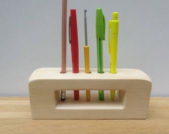Wooden pencil holder