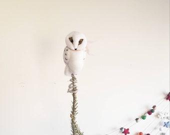 Christmas Ornament New Product, Handmade Ornament Handblown Glass Ornament Unicorn Snowy Owl Ornament Glass Ornament