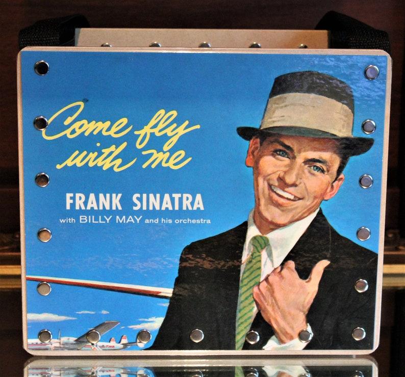 Frank Sinatra Record PurseSong Art 80's MusicRecord image 0