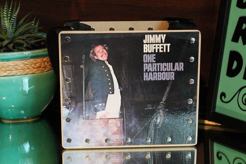 Jimmy Buffet Gifts Parrot Heads Album Cover Purse Vinyl image 0