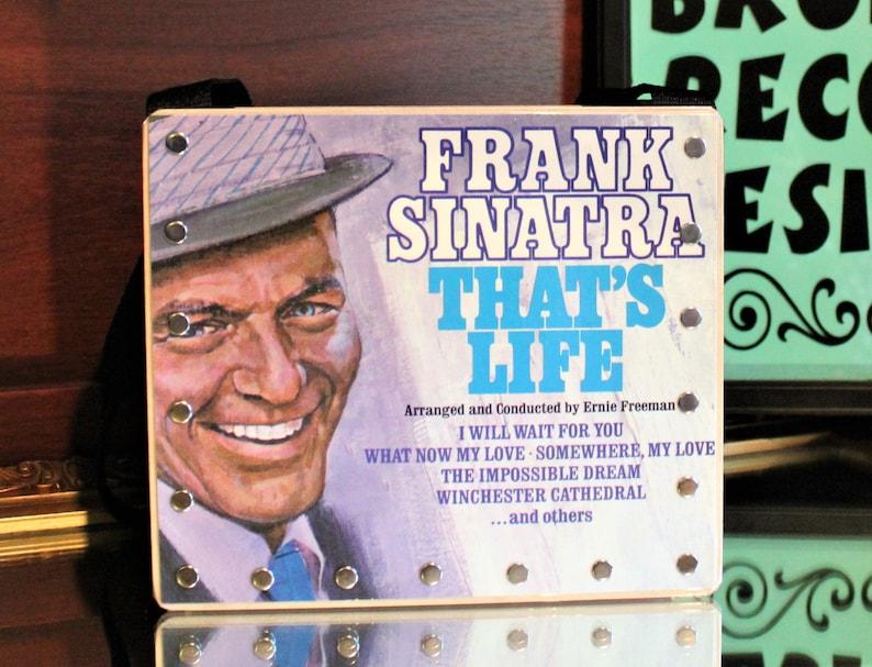 Frank Sinatra Record PurseSong Art 80's Music Record image 0