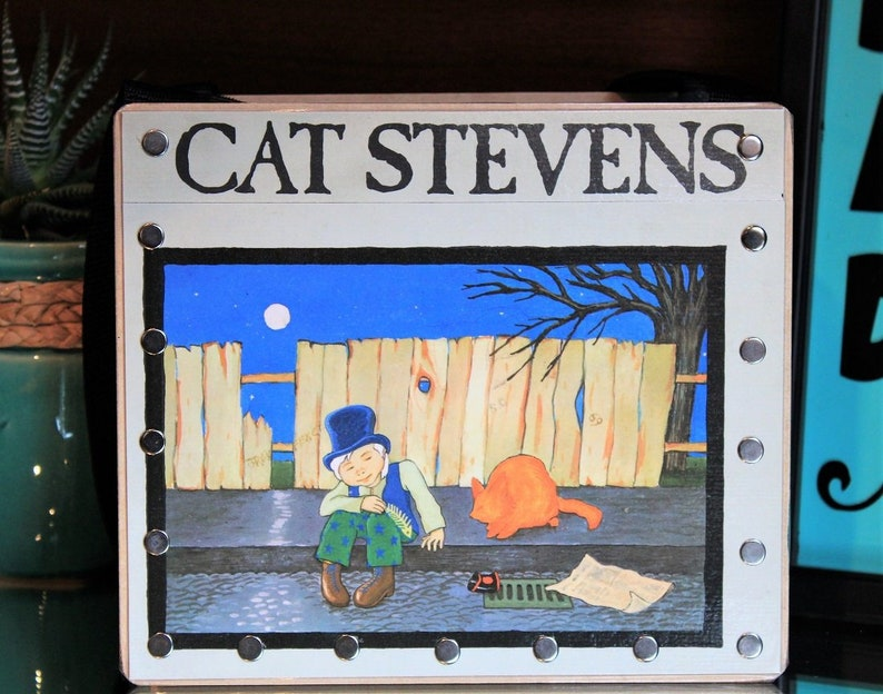 Cat Stevens Record Purse Trending Gifts Moon Shadow image 0