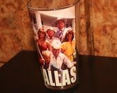 Dallas (1980) Drinking Glass Television Show Promo JR Ewing Oil Dallas TV Show 1980s I Shot Larry Hagman J.R. Barbara Bel Geddes Jim Davis