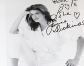 Supermodel Janice Dickinson Signed Photograph the First Vogue Supermodel High Fashion Model Jacques Silberstein Ford Models Doreen