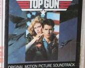 TOP GUN (1986) Cassette Soundtrack Tape Tom Cruise Kelly McGillis Val Kilmer Anthony Edwards Tom Skerritt Harold Faltermeyer Giorgio Moroder