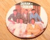 Duran Duran (1989) Pin of Record Cover Design New Wave Synthpop Dance-Rock Members Simon Le Bon Nick Rhodes John Taylor Roger Taylor