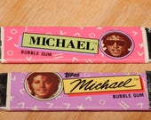 Michael Jackson Bubble Gum (2 sticks) Vintage 1980s Unused Made by Topps Cards
