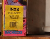 INXS Backtrax Cassette Tape (1989) quot Devil Inside Need quot Back Trax Karaoke The Farriss Brothers Michael Hutchence Garry Beers Tim Andrew Jon