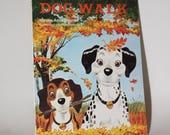 DOG WALK (1981) Children 39 s Book By Miriam Anne Bourne at Modern Curriculum Press Dalmatian School Educational 1980s Textbook Elementary
