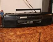 Garrard (1987) Boombox Tested Radio Works Cassette Works Headphones Jack Vintage 1980s Ghetto Blaster Ghettoblaster With EQ Equalizer