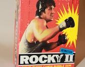 ROCKY II (1979) Movie Cards Box Apollo Creed Boxing Boxer Illustrated Rocky Balboa Sylvester Stallone 1970s 1980s