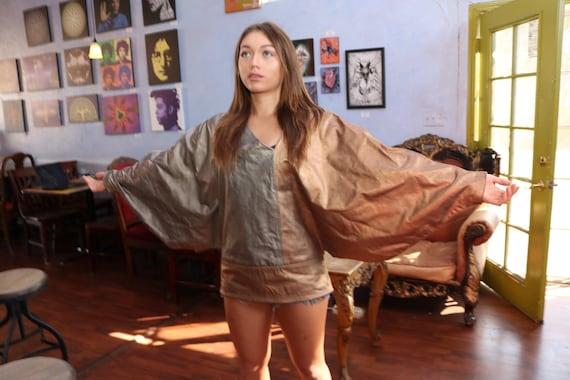 DISCO Shawl Cloak Mantel Custom Couture Gold/Coppe