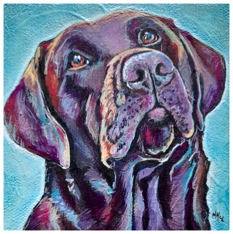 Custom pet portrait companion animal artwork original image 0