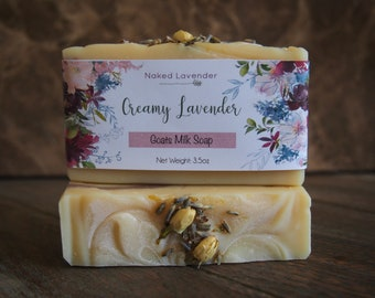 Creamy Lavender - Goat's Milk Soap - All Natural Soap - Handcrafted Soap - Essential Oil