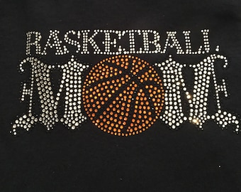 Basketball mom rhinestone tshirt