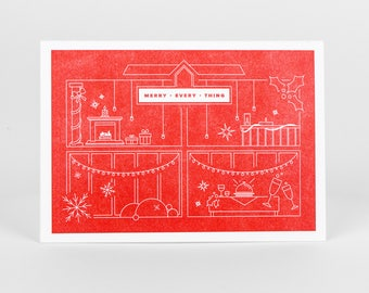 Merry Every Thing Letterpress Holiday Card