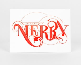 So Very Merry Letterpress Holiday Card