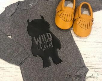 Wild Child Onesie/Wild Things Are/Onesie or T-Shirt/Custom Onesie
