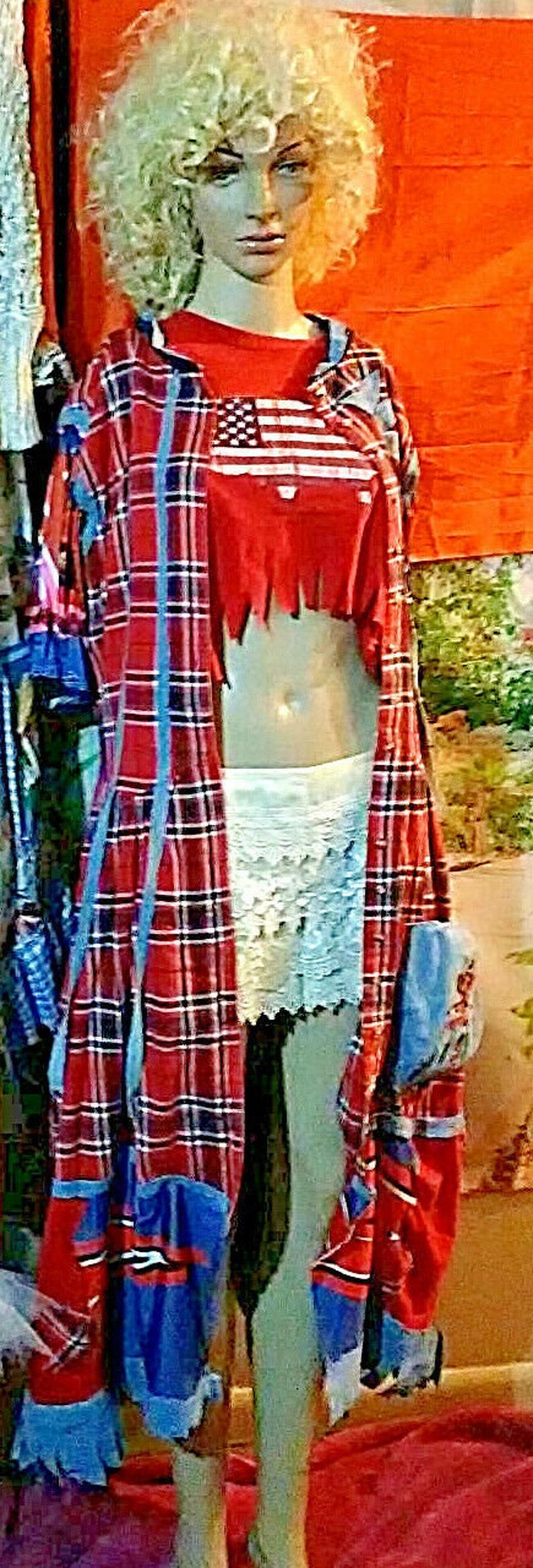 Sale,Free SHipp dress upcycled ooak dress tunic jacket Handmade dress country western boho dress tunic  gypsy,steampunk  Koolhanddesigns