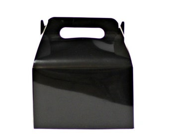 100 pcs Black Tote Boxes with Handles for Wedding Favors Party Decorations SALE
