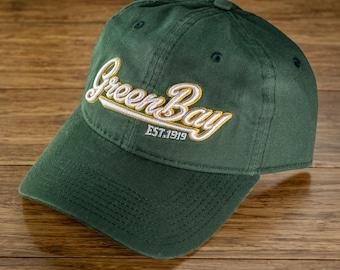 bb182ebfc66 Green Bay Script Dad Hat