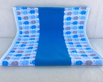 Elephants on Parade Burp Cloth