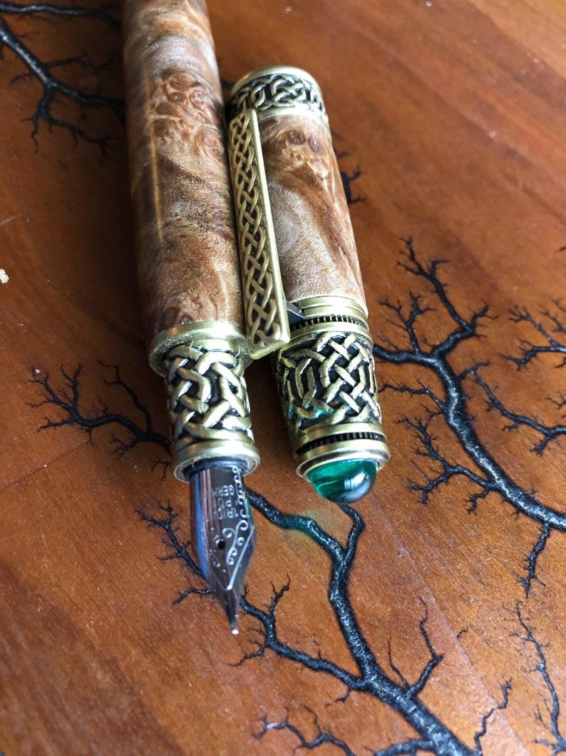 Classic Wood Celtic Wood Turned Fountain Pen