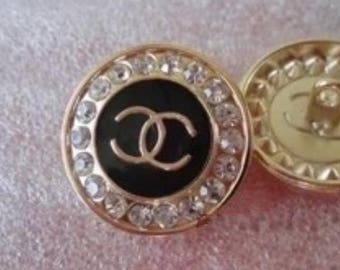 Chanel CC clothing button diamonds