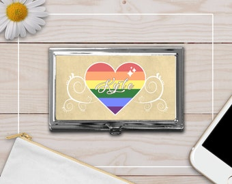 Personalized Gay Pride Credit Card Holder/Wallet