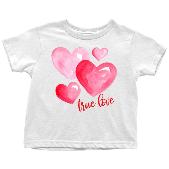 True Love Heart Print T shirt, Toddler Tee, Heart Print Clothing Kids, Toddler Girl and Boy Love Hearts T shirts, Children's Heart Shirt